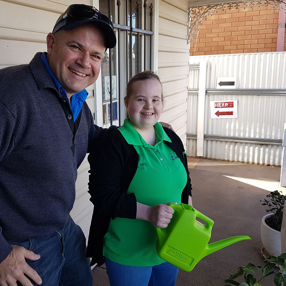David Ward, Solutions Ag with employee Emily Gardner